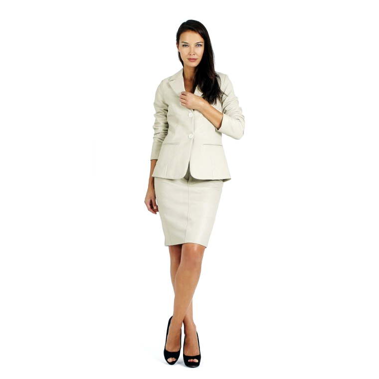 Womens Nappa Leather Jacket and skirt