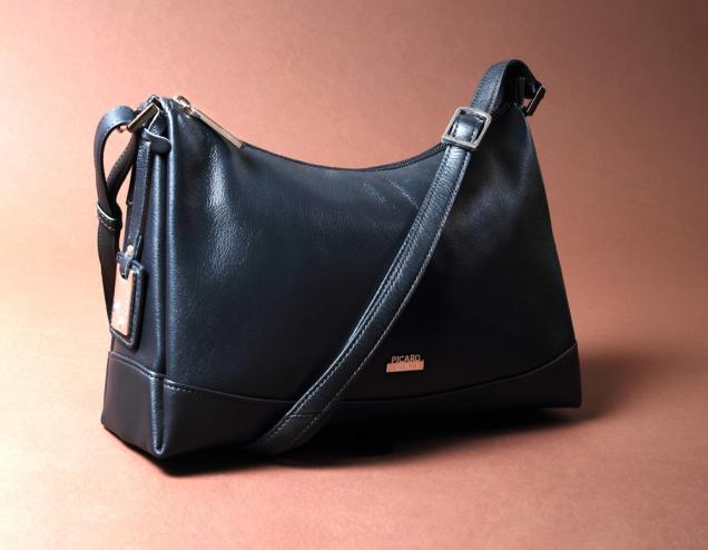 Navy blue napa bag Picard brand medium size